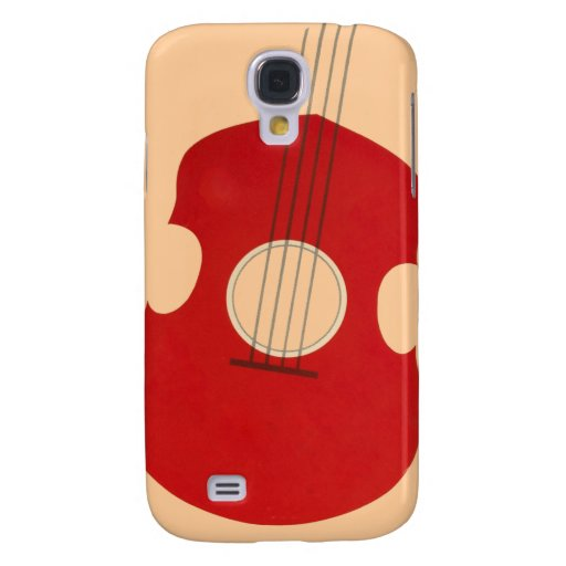 Retro Guitar Graphic Red Musical Instrument Design Samsung Galaxy S4 Case