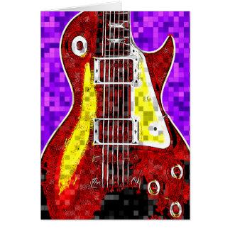 Retro Guitar Greeting Card