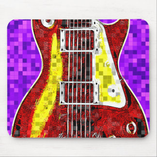 Retro Guitar Mouse Pad