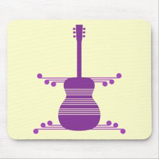 Retro Guitar Mousepad, Purple