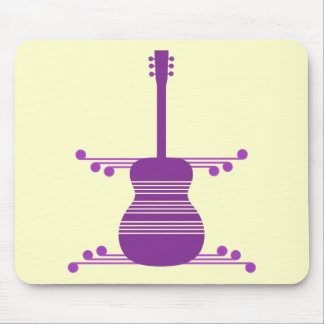Retro Guitar Mousepad, Purple Mouse Pad