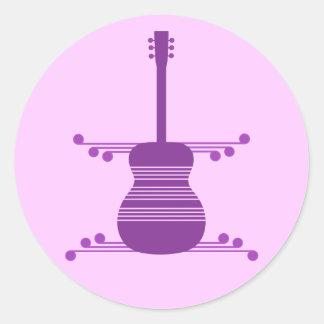 Retro Guitar Stickers, Purple