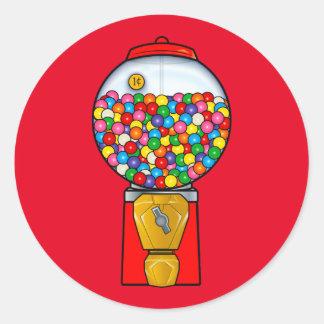 Retro Gum Ball Machine Classic Round Sticker