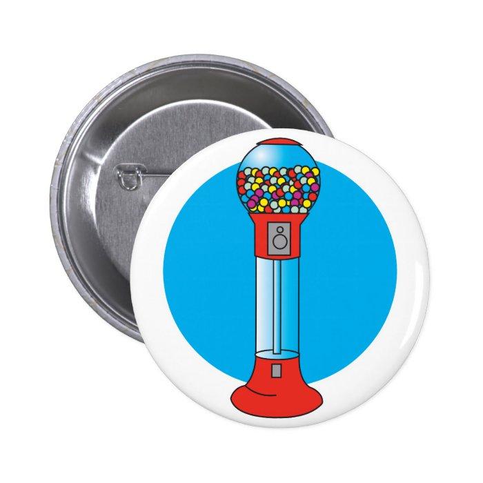 retro gumball machine button