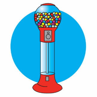 retro gumball machine acrylic cut out