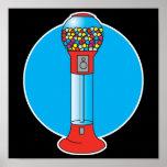 retro gumball machine poster