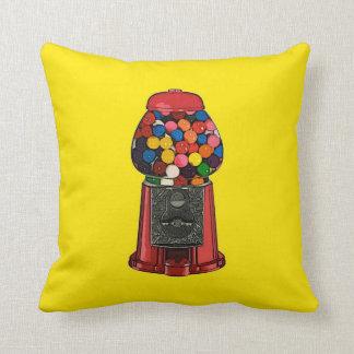 Retro Gumball Machine Throw Pillow