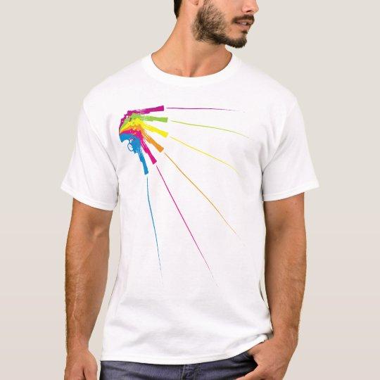 Retro Gunshots T-Shirt White for Men