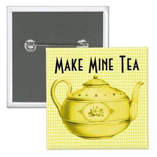 Retro haga los míos el té V4 Pin Cuadrada 5 Cm