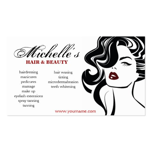 Beauty therapist business cards standard size page17 bizcardstudio retro hair beauty salon business card design colourmoves Choice Image