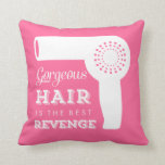 Retro Hairdryer Throw Pillow