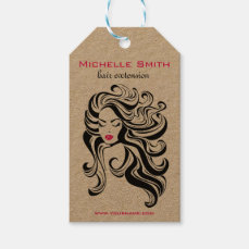 Retro Hairstyling Product hanging tags