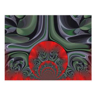 Retro Hakuna Matata Gift flora  Ring of Fire Postcard