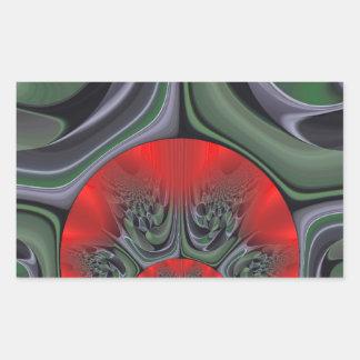 Retro Hakuna Matata Gift flora  Ring of Fire Rectangular Sticker