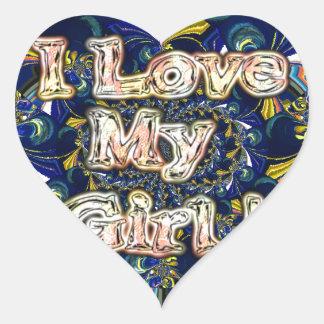 Retro Hakuna matata Infinity I Love my Girl.jpg Heart Sticker