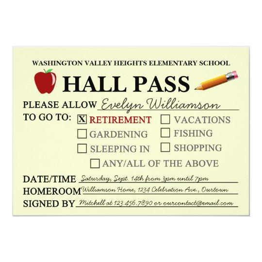 teacher retirement invitation