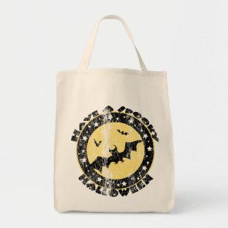 Retro Halloween Bats Bag