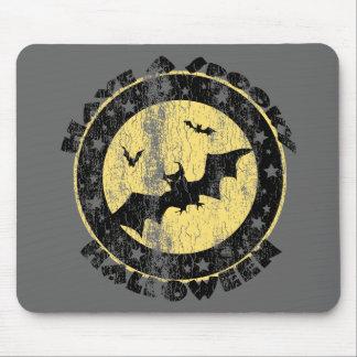 Retro Halloween Bats Mouse Pad