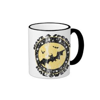 Retro Halloween Bats Mugs