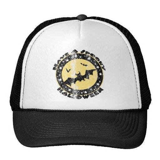 Retro Halloween Bats Trucker Hat