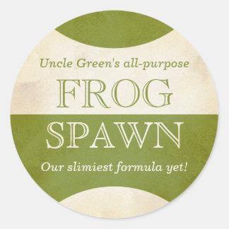 Retro Halloween Frog Spawn potion sticker