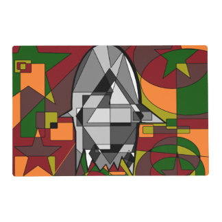 Retro Halloween Ghost Abstract Placemat