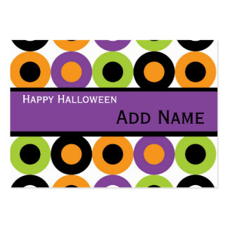 Retro Halloween Gift Tags Large Business Card