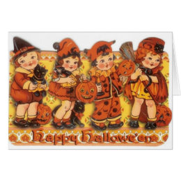 Retro Halloween Greeting Card