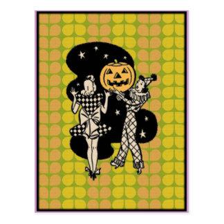 Retro Halloween Ladlies Postcard
