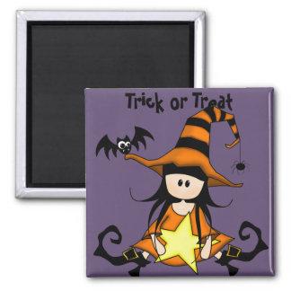 Retro Halloween Fridge Magnet