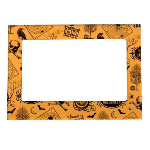 Retro Halloween Picture Frame Magnets