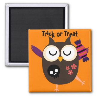 Retro Halloween Owl Refrigerator Magnets