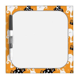 Retro Halloween Party Dry-Erase Whiteboard