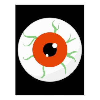 Retro Halloween Party  Eyeball Post Card