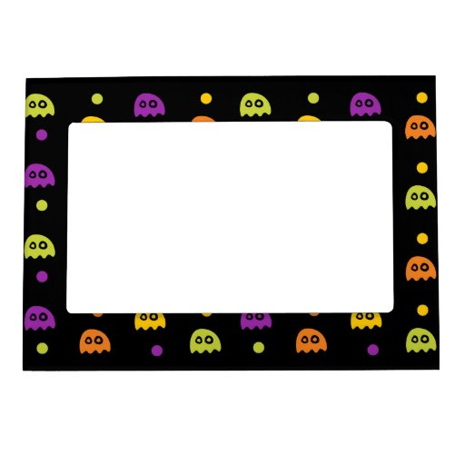 Retro Halloween Party Magnetic Picture Frames