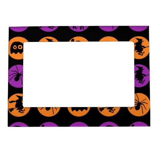 Retro Halloween Party Photo Frame Magnet
