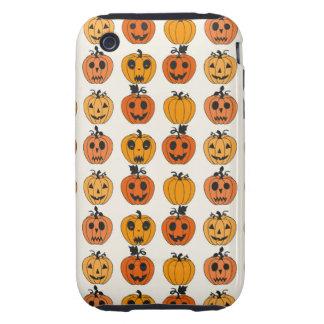 Retro Halloween Party Pumpkins iPhone 3 Tough Cover