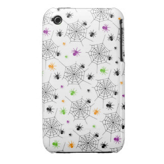 Retro Halloween Party Spider Webs iPhone 3 Case-Mate Case
