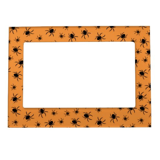 Retro Halloween Party Spiders Magnetic Photo Frames