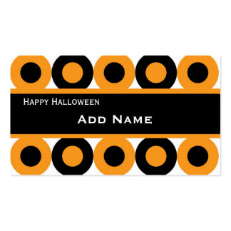 Retro Halloween Persoanalized Gift Tag Business Card