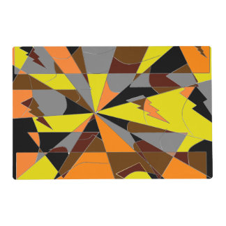 Retro Halloween Themed Abstract Placemat
