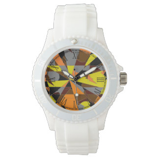 Retro Halloween Themed Abstract Wrist Watch