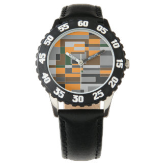 Retro Halloween Themed Abstract Wristwatch