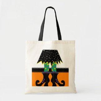 Retro Halloween Witch Canvas Bag
