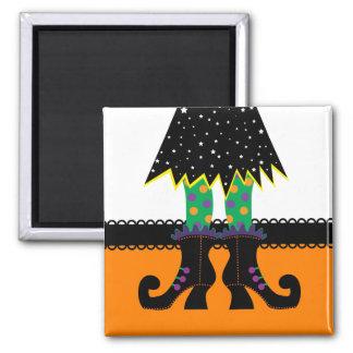 Retro Halloween Witch Fridge Magnets