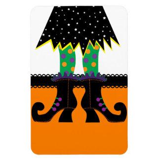 Retro Halloween Witch Rectangular Magnet