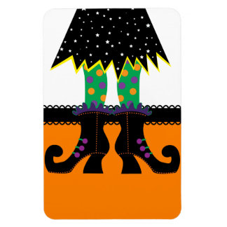 Retro Halloween Witch Rectangular Magnets