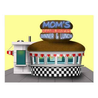 Retro Hamburger Stand Postcard