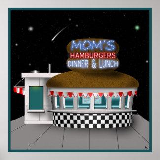 Retro Hamburger Stand Poster