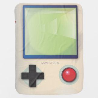Retro Handheld Video Game Receiving Blanket